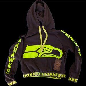 Seattle Seahawks crop hoodie